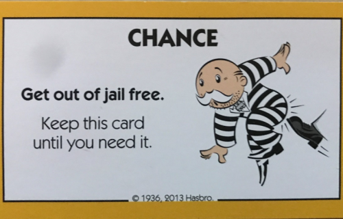 Does your goal include a 'get out of jail card?'