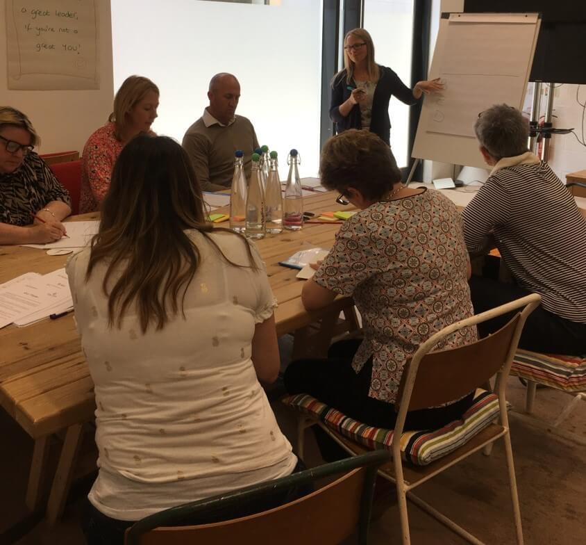 Andrea Goodridge facilitating a leadership workshop, Ad Florem