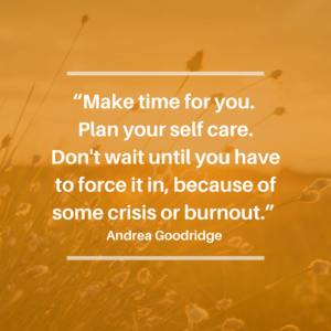 Quote - make time for you and your self care