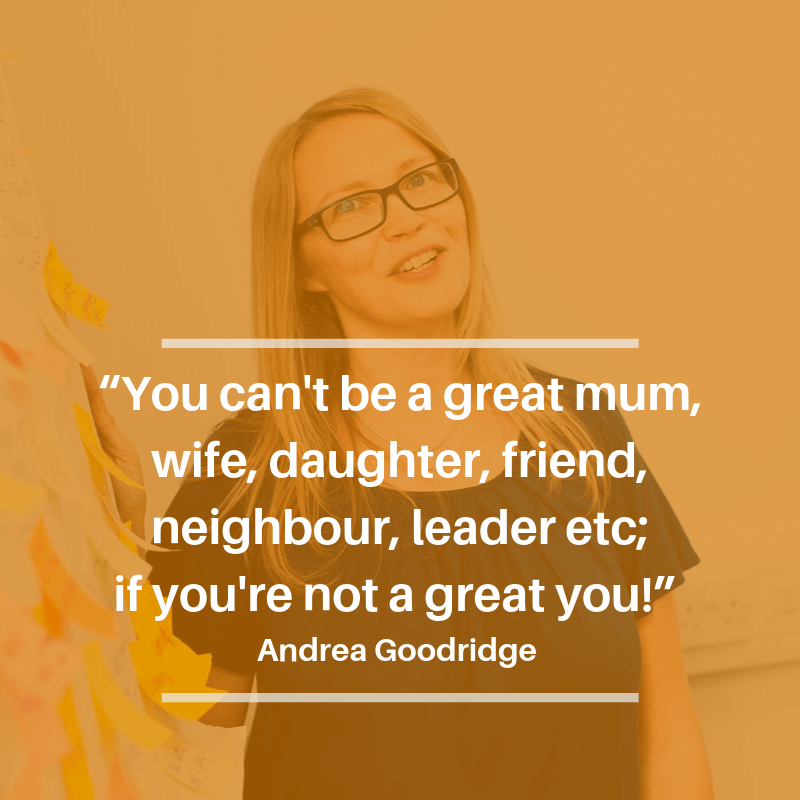 Andrea Goodridge quote about being a great you