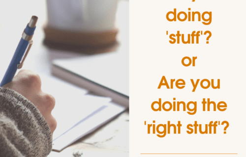 Are you doing stuff or are you doing the right stuff quote