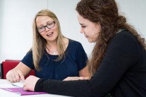 Andrea Goodridge coaching a leader