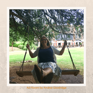 Andrea Goodridge on a swing