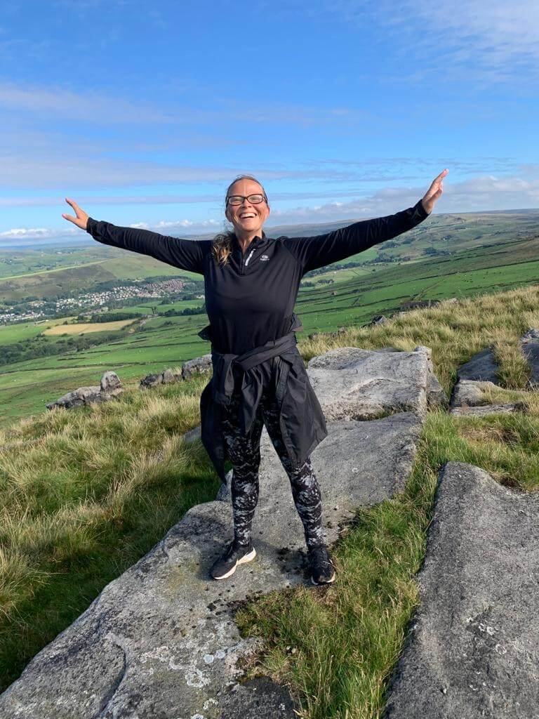 Andrea Goodridge on top of the world