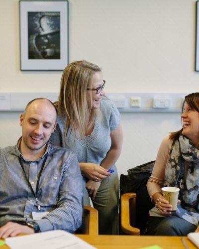 Andrea Goodridge facilitating group coaching, Ad Florem
